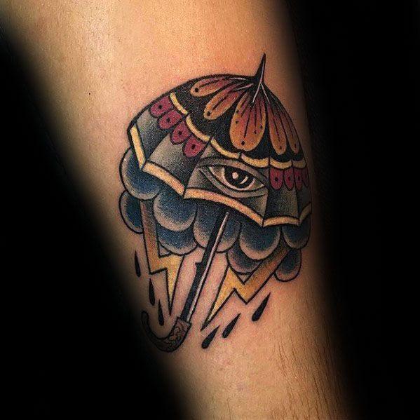 60 Umbrella Tattoo Designs For Men Protective Ink Ideas