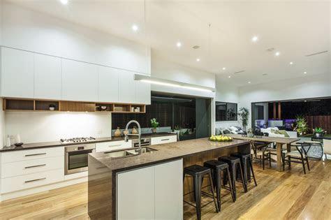 White Kitchen Open Concept   Interior Design