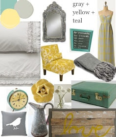 Gray + Yellow + Teal (Inspiration board)