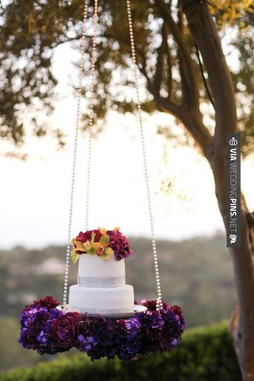 Cool! - Hanging Cake Display   CHECK OUT MORE IDEAS AT WEDDINGPINS.NET   #weddings #rustic #rusticwedding #rusticweddings #weddingplanning #coolideas #events #forweddings #vintage #romance #beauty #planners #weddingdecor #vintagewedding #eventplanners #weddingornaments #weddingcake #brides #grooms #weddinginvitations