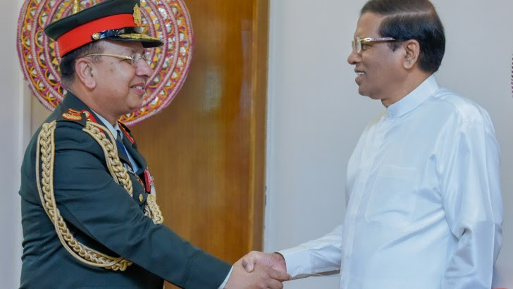 Nepal Army Chief calls on President Sirisena