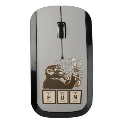 Chemistry monkey discovered fun wireless mouse