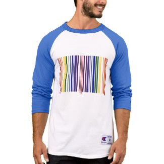 Double Rainbow Barcode Shirt