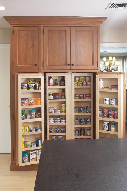 Interior of large pantry cabinet - eclectic - kitchen - boston ...