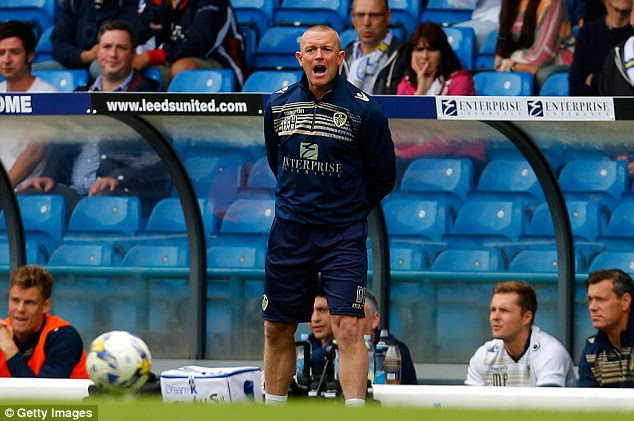 Short spell: David Hockaday was sacked after only two months in charge of Leeds