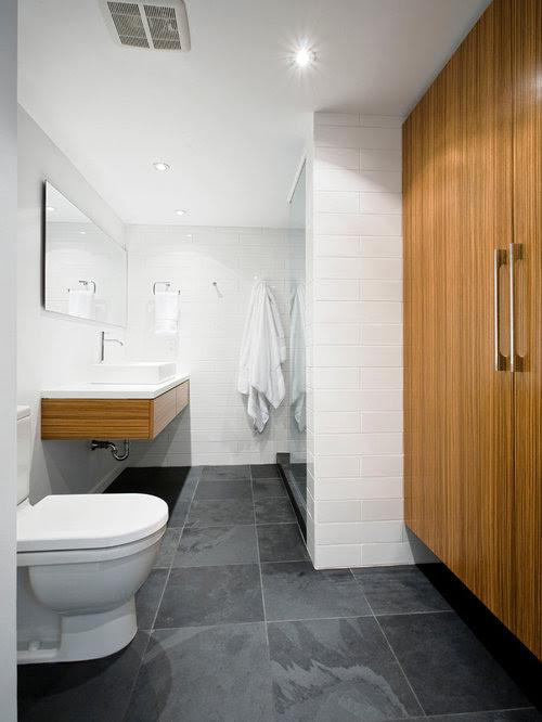 Bathroom Slate Floor Home Design Ideas, Pictures, Remodel ...