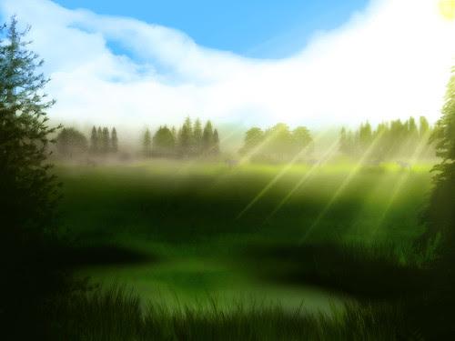 フリー写真素材グラフィックスイラスト風景イラスト草原画像