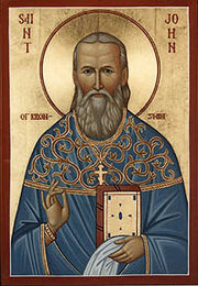 An icon of St. John of Kronstadt
