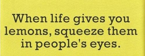 When Life Gives You Lemonssqueeze Them In Peoples Eyes Funny