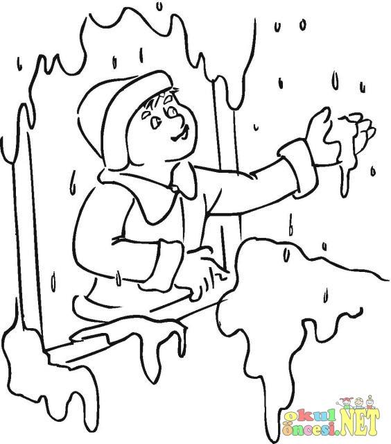 Mevsim Ağaç Boyama Sayfaları Toddlers Axipixde