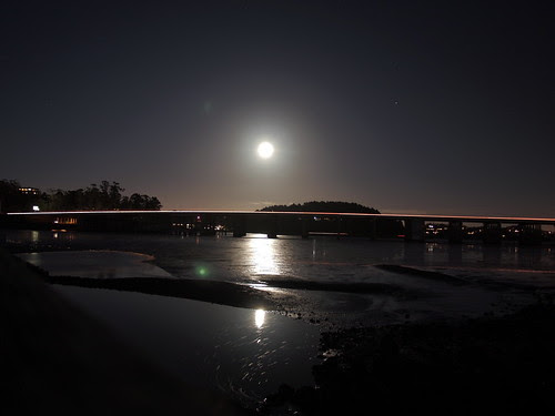 Moon glow over richardson bay