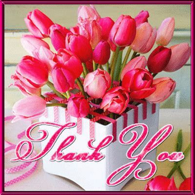 Pink Tulip Thank You Card. Free For Everyone eCards