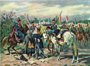 """Zaaresztowanie Szpiega"", J. Kossak / fot. wikipedia"