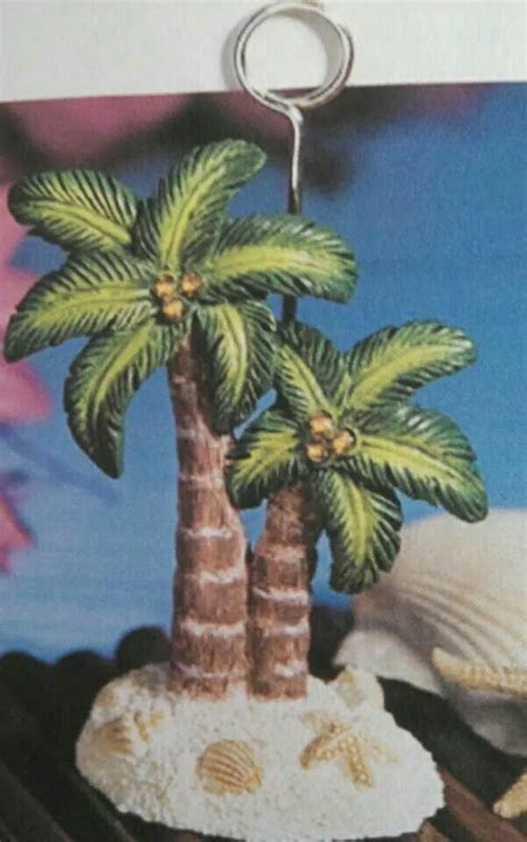 Palm tree place card/table number holder   Beach Wedding