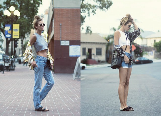 Inspiration blogpost by belgium fashion blogger turn it inside out: outfits by The native fox wearing crop tops