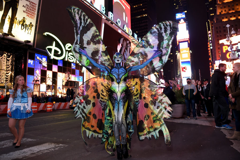 Heidi Klum In Butterfly Costume