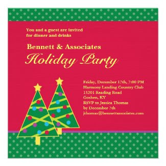 Christmas Tree Holiday Party Invitation
