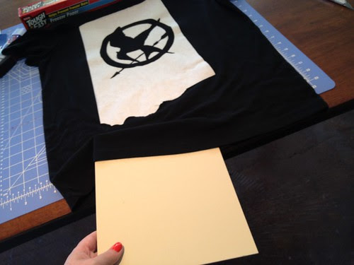 How-To: Hunger Games Mocking Jay Bleach Pen Freezer Paper Stencil T-Shirt