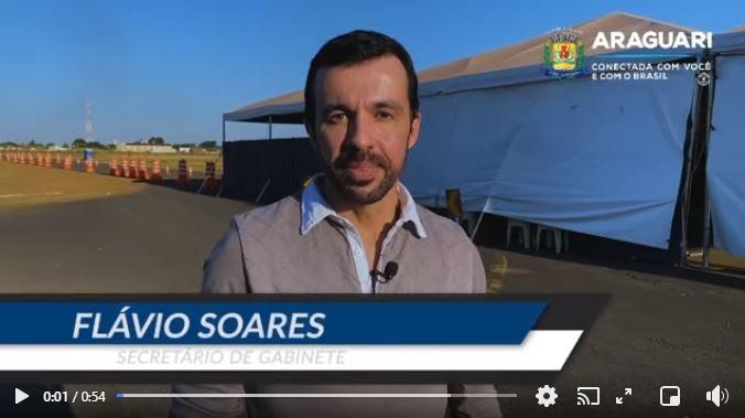 VACINAÇÃO em Araguari alcança as pessoas com 44 anos no AEROPORTO da cidade