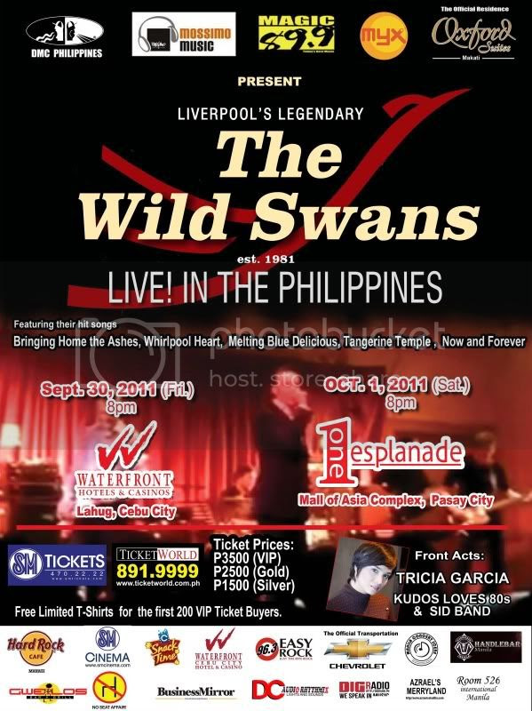 The Wild Swans Live in Manila Graphic