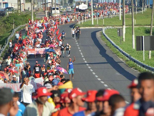 Marcha deve chegar em Salvador na segunda-feira (10) (Foto: Ed Santos/Acorda Cidade)