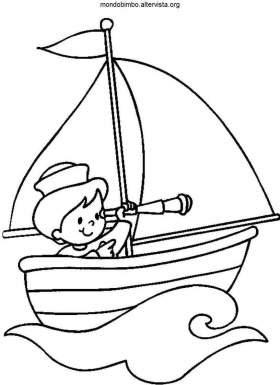 Barche A Vela Da Colorare Mondo Bimbo