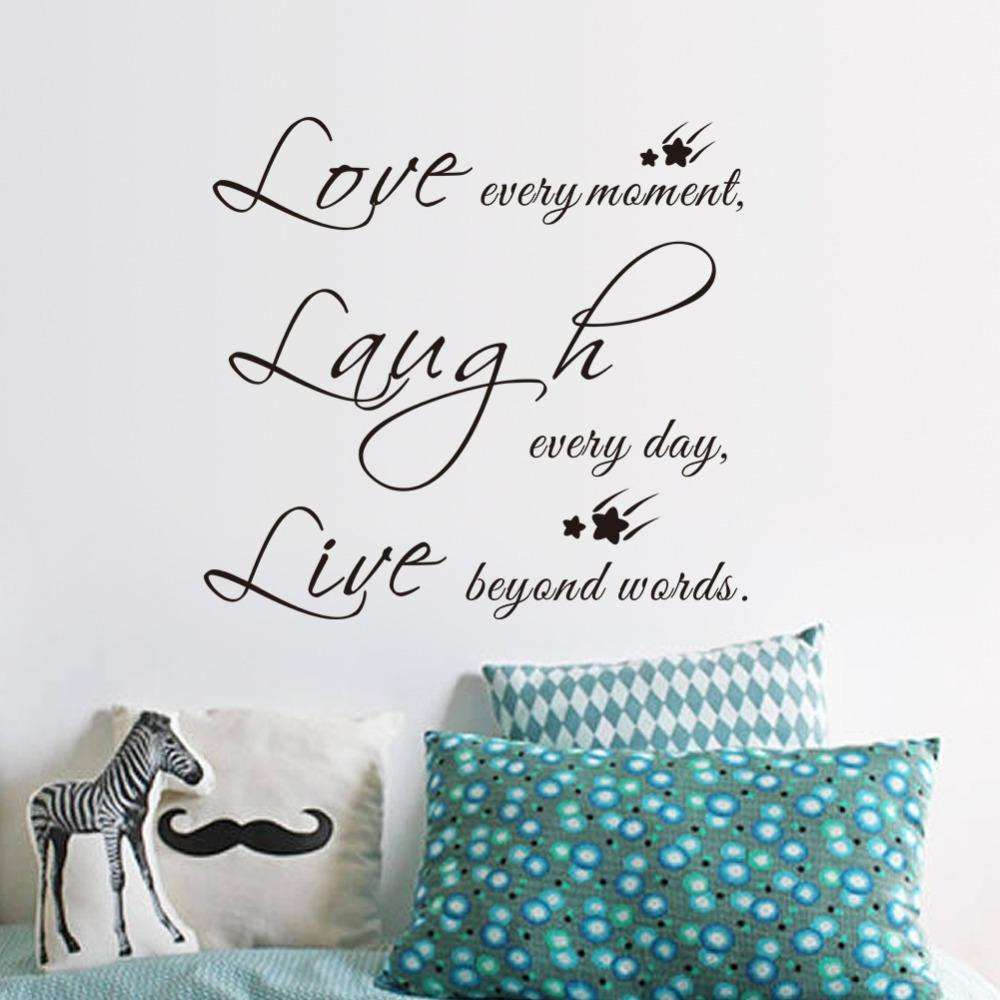 Live Love Laugh Letters Vinyl Wall Quotes Stickers Fresh Deals