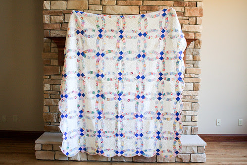Vintage Double Wedding Ring Quilt by Jeni Baker