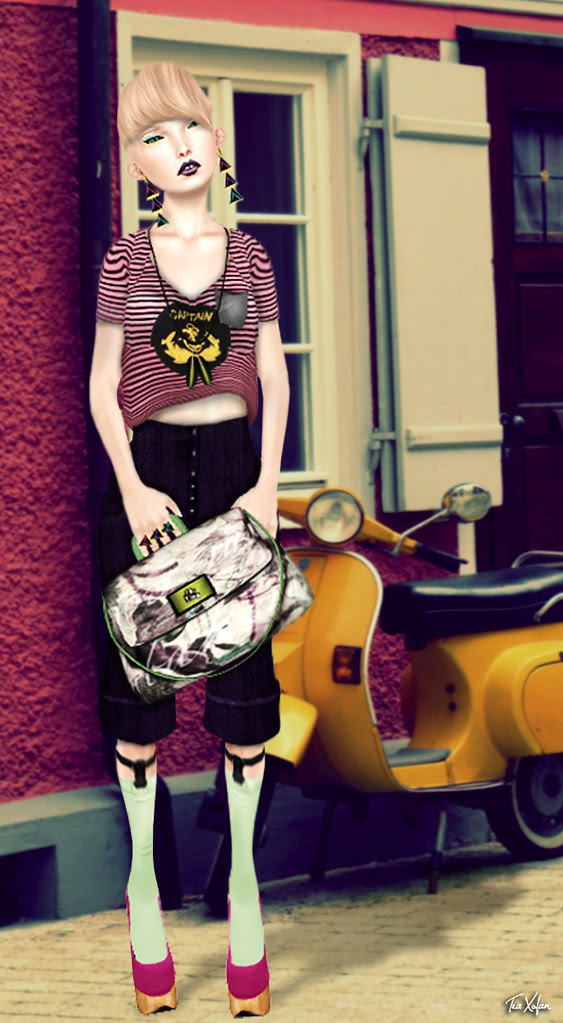 *A day with the Vespa*