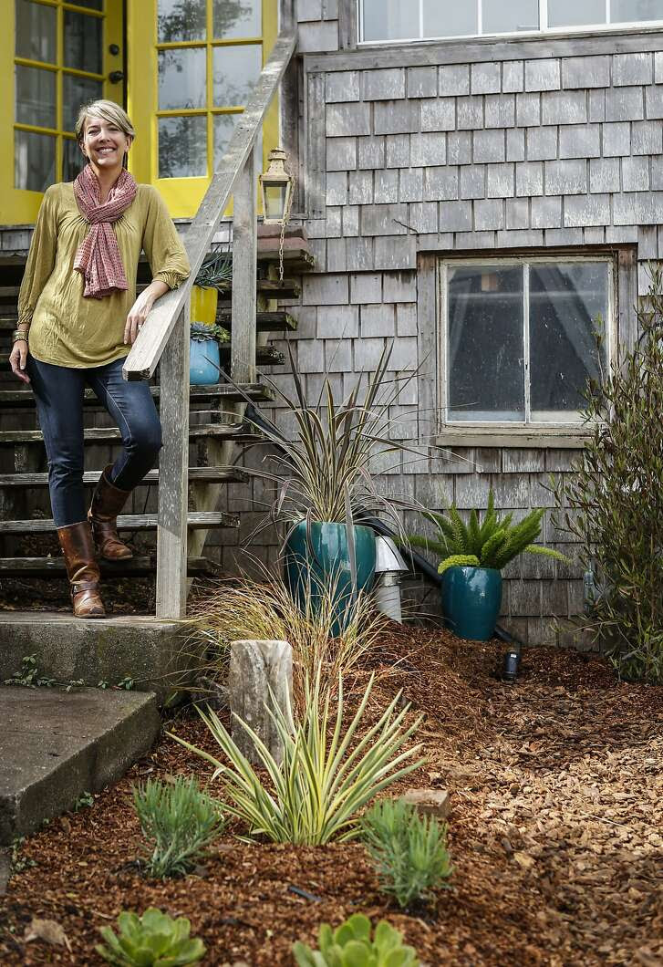 Jennifer Nix is seen with her garden on Thursday, Sept. 17, 2015 in Sausalito, Calif.