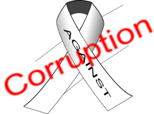 Against Corruption 1 Clip Art