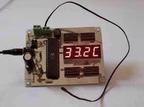 Màn hình LCD nhiệt kế Thermistor AT89S52