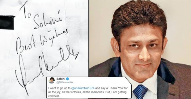 Former Cricketer Anil Kumble's Kind Gesture For His Fan Is Winning Netizens Hearts