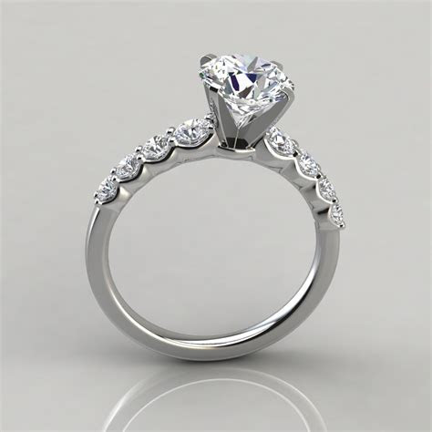 Graduated Side Stone Engagement Ring   PureGemsJewels