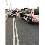 המשטרה מודיעה על עומס תנועה כבד ליד גשר ראשון בגלל תאונה - BE106