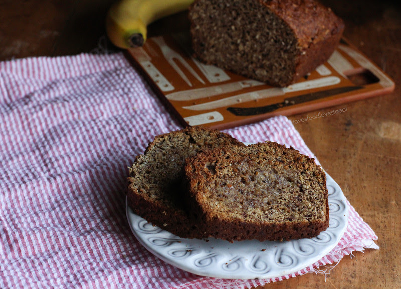 Coconut & Ground Hazelnut Banana Bread// Loves Food Loves to Eat