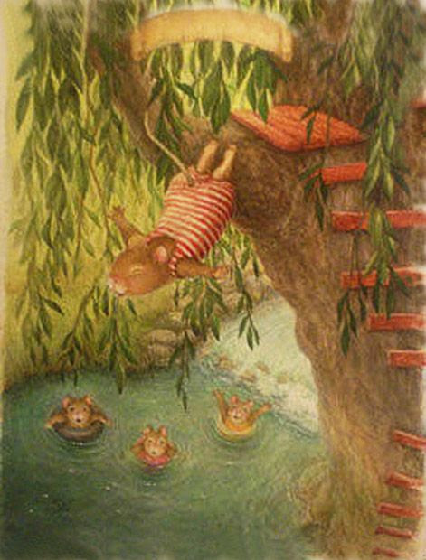 Diving into the ole swimming hole; by SUSAN WHEELER ★