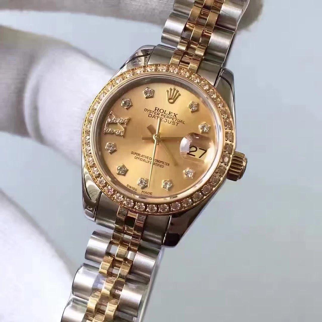 Two Tone Diamond Rolex Datejust 33mm