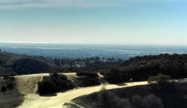 If you were here in person, you'd be able to see Catalina Island and the Pacific Ocean in the distance. I kid you not.