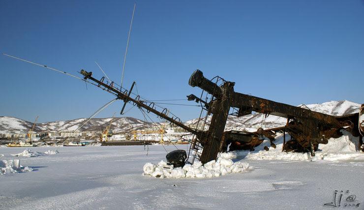 abandoned ships in  kamchatka, Russia 8