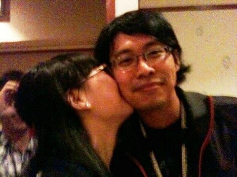 Lisa kisses I.Z.