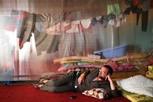 A displaced Iraqi Christian man who fled from the Christian …