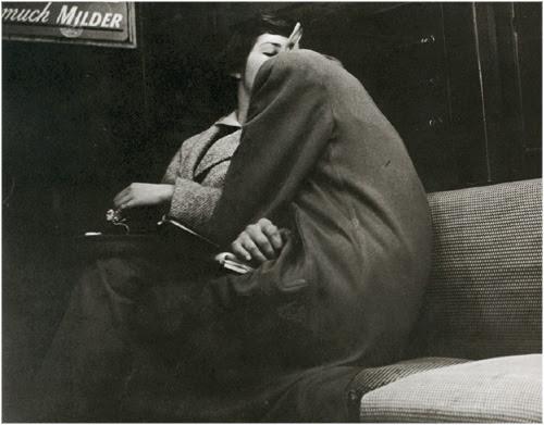 Subway Lovers. New York, 1949. by Arthur Leipzig