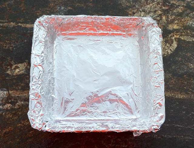Square Pan Lined with Foil
