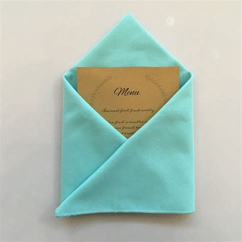 Envelope Napkin Fold: DIY Tutorial