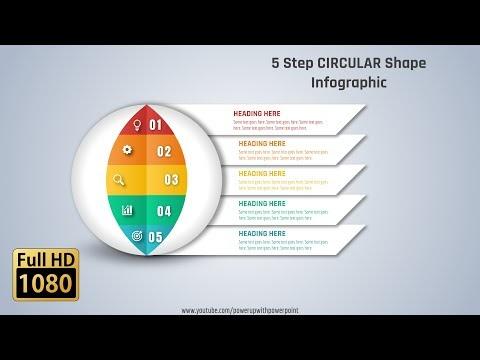 Circle Shapes Infographic PowerPoint Tutorials