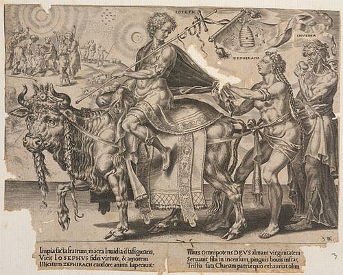 Triumph des ägyptischen Joseph - Volkertsz + Heemskerck 1564