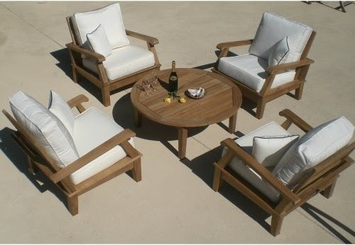 Royal Teak Miami Reclining Outdoor Lounge Chair - contemporary