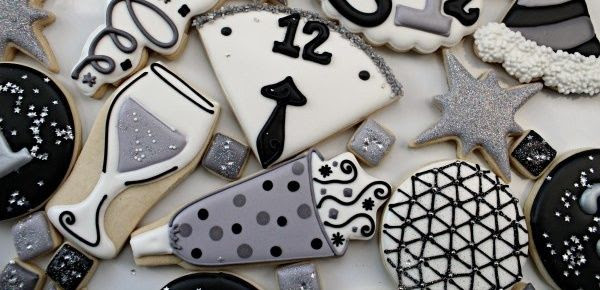 Black White New Years Eve Cookies Pictures Photos And Images