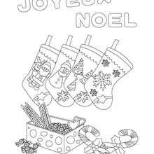Coloriages Joyeux Noel Avec Chaussettes à Colorier Fr